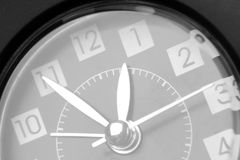 Clock. Closeup of hands on clock face Royalty Free Stock Photo