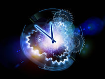 Clock cluster Royalty Free Stock Photography