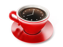 Clock on coffe cup Royalty Free Stock Image