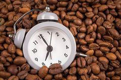 Clock and coffee Stock Photography