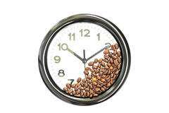 Clock and coffee Stock Photos