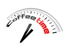Clock Coffee Time Royalty Free Stock Images