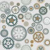 Clock cogwheel pattern. Clock's cog-wheel seamless pattern Royalty Free Stock Photos