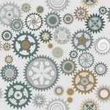 Clock cogwheel pattern. Clock's cog-wheel seamless pattern stock illustration