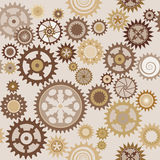 Clock cogwheel pattern. Clock's cog-wheel seamless pattern Royalty Free Stock Images