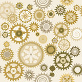 Clock cogwheel pattern III. Clock's cog-wheel seamless pattern Stock Photography