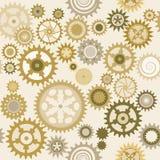 Clock cogwheel pattern III. Clock's cog-wheel seamless pattern royalty free illustration