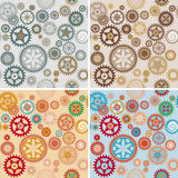 Clock cogwheel pattern set. Clock's cog-wheel seamless pattern set Stock Photography