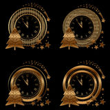 Clock , Collection gold Royalty Free Stock Image