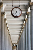 Clock and colonnade in Karlovy Vary Stock Images
