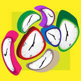 Clock color Royalty Free Stock Photo