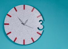The clock on color background. Passing of time Royalty Free Stock Image