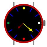 Clock in colors Stock Photos