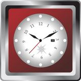 Clock with compass design Stock Photography