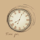 Clock concept in retro style. Vintage watch background Royalty Free Stock Photo