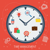 Clock - concept time management Stock Images