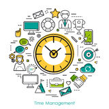 Clock - concept time management Royalty Free Stock Photography