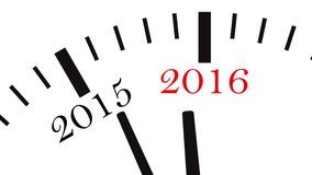 Clock countdown from year 2014 to 2015 stock footage