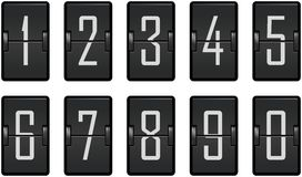 Clock counter toggling digits dark Stock Photo