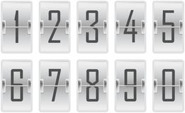 Clock counter toggling digits light Royalty Free Stock Images