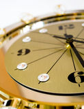 Clock with crystals Royalty Free Stock Photo