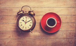 Clock and cup Royalty Free Stock Image