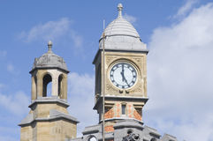 Clock and cupola, train station in Ghent, Belgium Stock Images