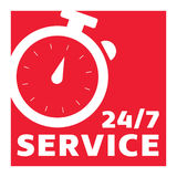 24/7 Clock Customer Service Royalty Free Stock Photos