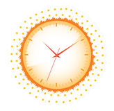 Clock with daisies Stock Images