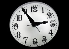 Clock In The Dark Royalty Free Stock Photos
