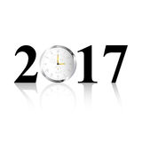 2017 Clock. 2017 date with clock as zero number Stock Images