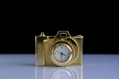 Clock. Decorative clock as a camera royalty free stock photo