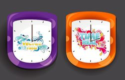 Clock design illustration Royalty Free Stock Images