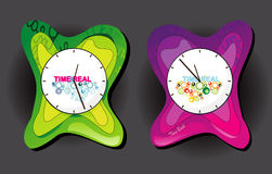 Clock design illustration Royalty Free Stock Photo