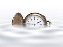 clock det gammala facket Royaltyfri Fotografi