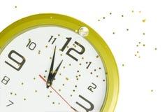 clock det nya året Royaltyfri Fotografi