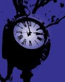 clock det purpura tornet Royaltyfri Bild