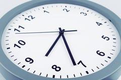 Clock detail. Closeup of hands on clock face Stock Photo