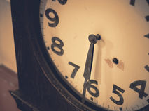 Clock details Memory and time Vintage tone Stock Photography