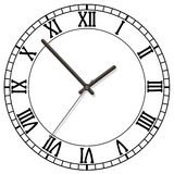 Clock dial. Vector clock dial with roman numbers Royalty Free Stock Images