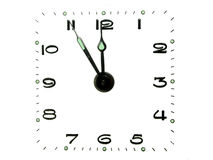 Clock dial. On white background royalty free stock photography