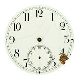 Clock dial face isolated on white. Background Royalty Free Stock Photography