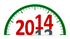 Clock dial 2014, half Royalty Free Stock Photo