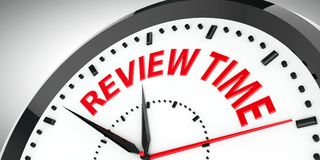 Clock dial Review time  2 Stock Image