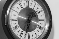 Clock dial with Roman numerals Stock Image