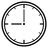 Clock Dial. Vector Illustration Stock Images
