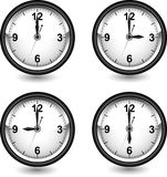 Clock with different time Royalty Free Stock Image