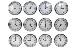Clock, Different Time Stock Photography