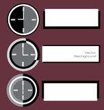 Clock Digitals With Label Notes Royalty Free Stock Photos