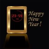 clock digitalt guld- Royaltyfria Bilder